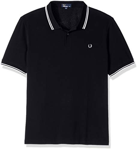 fred perry Fred Perry Herren Poloshirt M3600-238, Mehrfarbig (Navy/White), M