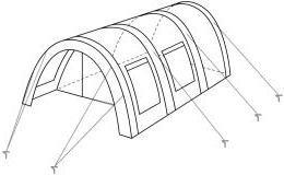CampFeuer - Tunnelzelt mit 2 Schlafkabinen, olivgrün, 5000 mm Wassersäule, mit Bodenplane und versetzbarer Vorderwand -