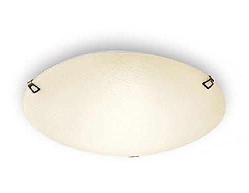 Delta 1Licht Flush Wand-/Deckenleuchte Größe: 40cm H x 40cm W x 8cm D, Finish: Brüniert Metall -