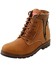BACCA BUCCI MEN TAN LEATHER BOOTS