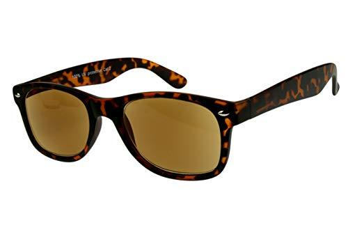 Lesesonnenbrillen alle Dioptrien für Damen Herren hellbraun dunkelbraun schwarz glänzend getönt mit Etui und Federbügel Kunststoff 1.0 1.5 2.0 2.5 3.0, Dioptrien:Dioptrien 2.5