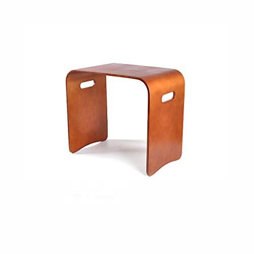 ZLL-Design Praktische Hocker Square Hocker Multifunktions Kreative Schuhe Bank Bett Tisch Couchtisch für Wohnzimmer Schlafzimmer Braun Einfache Erwachsene und Kinder Max Load 100 kg Multi-Größe -