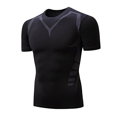 Wenyujh Homme Femme T-Shirt Sport Séchage Rapide Respirant Haut Manches Courtes Fashion Fitness Jogging Musculation