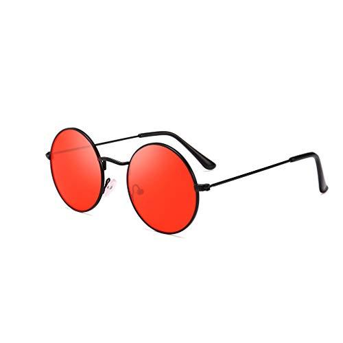 Luckiests Männer Frauen Runde Metallrahmen Sonnenbrillen Kreis-Harz-Objektiv UV-Schutz Eyewears Unisex Frauen männlich Sun Glasses
