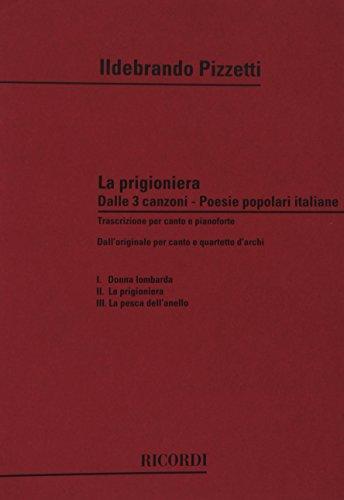 3 Canzoni Su Poesie Popolari Italiane: N. 2 La