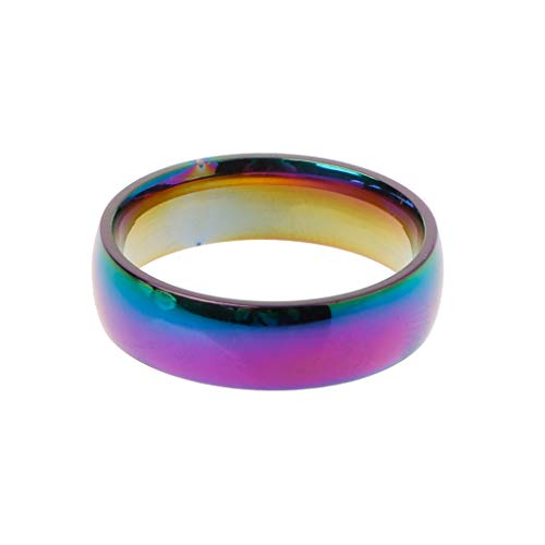 Kofun squillare, arcobaleno wedding bands titanio gay lesbian true love engagement promise anelli