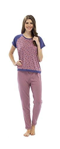 Set Pyjama Imprimé Star à manches courtes pour femme Blanc - Rose