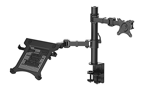NBSilence® Laptop Mount & Monitor Mount LCD Arm Desk Stand fits 10