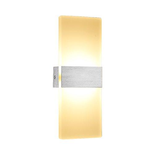 Wandleuchte Schlafzimmer Wohnzimmer Eingang Korridor Weiches Licht Weiß Licht Geometrie Moderne Gebürstetem Metall Acryl Scrub 6 Watt 29 cm * 11 cm -