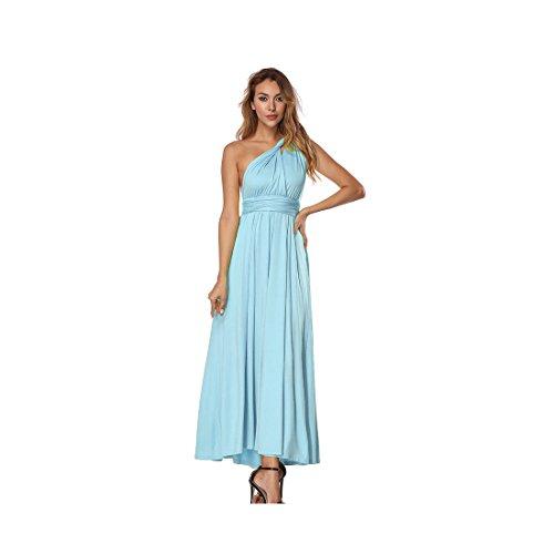 Kleid Damen mit V-Ausschnitt Elegante Backless Lange Kleid Partykleid Strandkleid Abendkleid...