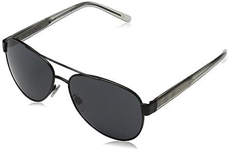 Burberry Unisex Sonnenbrille BE3084 Schwarz (Black 100787), One size (Herstellergröße: 57)