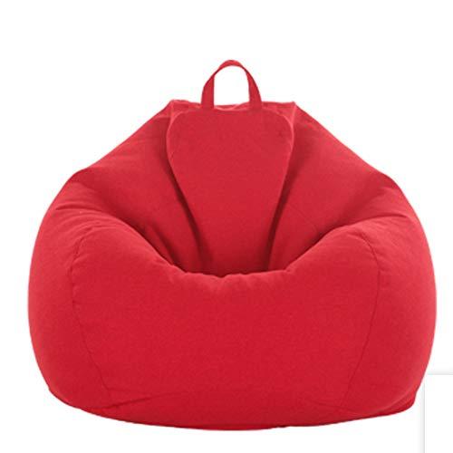 TKFY Haut Sac de Haricots Dos Toute déformation Sac de Haricots Chaise de Changement Gratuit Sacs Contient Un Tabouret de Pied intérieur et extérieur pour Les Adultes Enfant 90CM * 110CM,Red