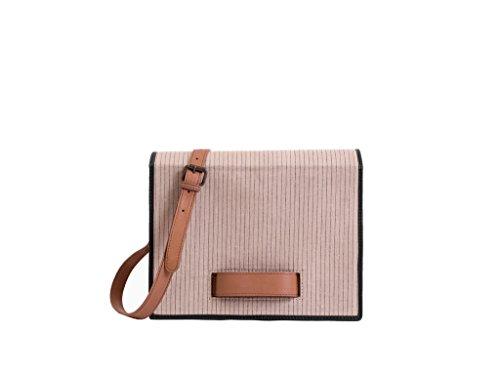 Paint Genuine Leather Tan box Sling Bag