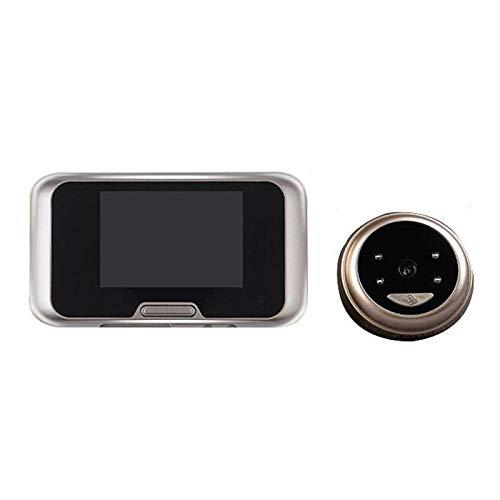 MIAO@LONG Miao @ lang Smart Kabellose Türklingel 120° HD Night Vision Türklingel Kamera Monitor für Home Security metallisch -