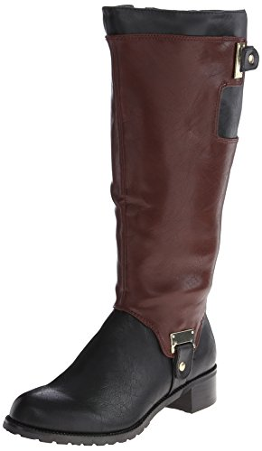 Bella Vita Anya II Plus Wide Calf Synthétique Botte Black-Mahogany-Wide Calf