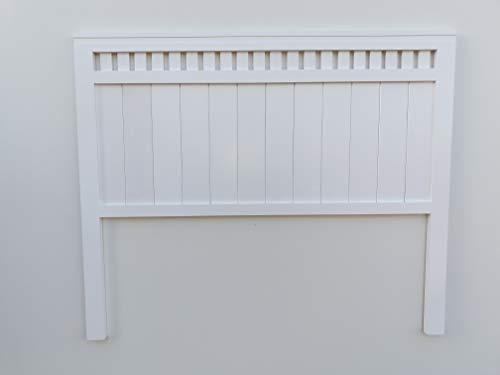 comprar Muebles pejecar cabecero Modelo Bora para Cama de 135 Fabricado en Madera Maciza de Pino insigni Acabado en Blanco Satinado
