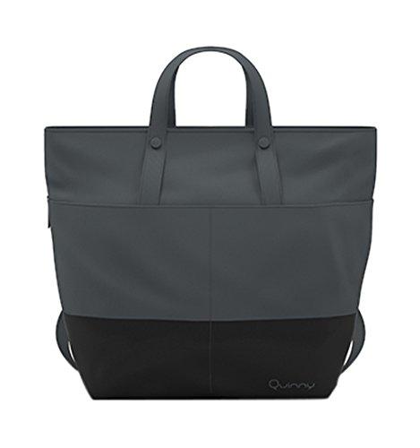 Preisvergleich Produktbild Quinny Wickeltasche, Baby-tasche, Windel-tasche (modische Wickel-tasche mit viel Platz und Zubehör inkl. Wickelauflage, auch als Wickel-Rucksack tragbar) grau