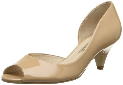 Buffalo London 104X-009 PATENT, Damen Peep-Toe Pumps, Beige (FORGET ME NOT 01), 39 EU