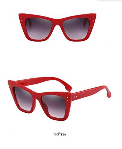 Wang-RX Mode Sonnenbrillen Frauen Vintage Black Square Frame Sonnenbrille Uv400
