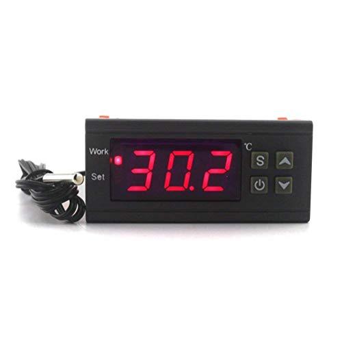 KETOTEK Temperaturregler Digital Thermostat NTC-Sensor LED-Anzeige 220 V 12 V Mini Größe für Heim-PC Computer Weinkeller Reptilien Sämling Brauerei Fermentation Heizung Kühlung (12V) - Heizung Kühlung Thermostat