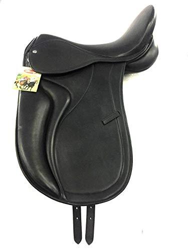 Generic ES-507 Dressur-Sattel aus Leder, Schwarz