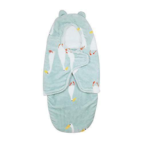 Azuo neonato swaddle coperta, baby addensare baby swaddle wrap asciugamano autunno e inverno sacco a pelo,coloredduck,m