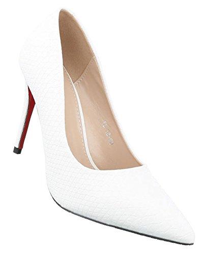 cb906874052d Damen Pumps Schuhe High Heels Stöckelschuhe Stiletto Schwarz Beige Rot Weiß 36  37 38 39 40