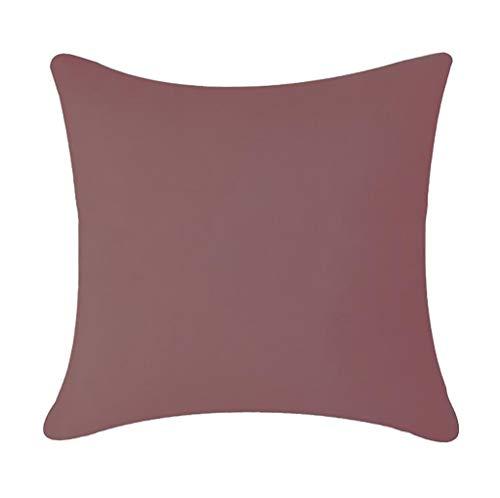 KonJin Einfache einfarbige wasserdichte Kissenbezug im Freien Auto Dekoration Kissenbezug für Sofa Schlafzimmer Auto mit Reißverschlüsse 45 X 45 cm