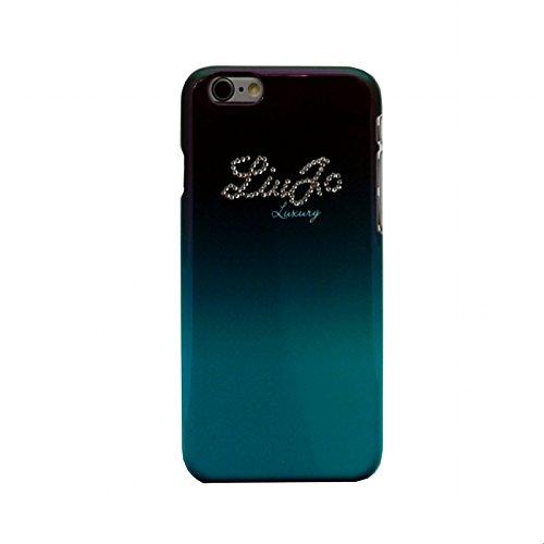 LIU-JO LJ6PBLINGG Cover Lucida per Iphone 6 Plus , Originale Serie Lucid Hard Swarovski, Verde