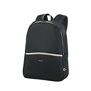 "312RAiDuoTL. SS300  - Samsonite Nefti - Backpack 14.1"" Mochila tipo casual, 41 cm, 15 liters, Negro (Black/sand)"