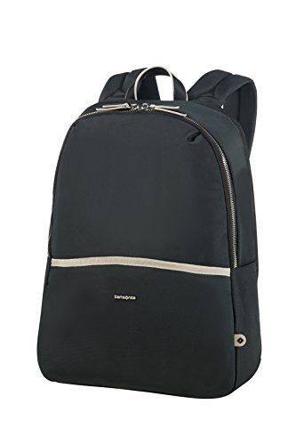 SAMSONITE BACKPACK 14.1' (BLACK/SAND) -NEFTI  Zaino Casual, 44 cm, Nero