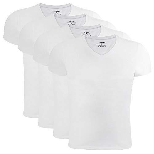 Snocks Snocks Unterhemd 4-er pack (Weiß, S)
