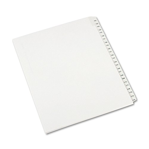 allstate-style-legal-side-tab-dividers-25-tab151-175-letter-white-25-set