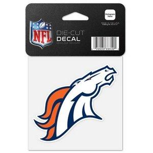 Wincraft NFL Denver Broncos 63044011perfekten Schnitt Farbe Aufkleber, 10,2x 10,2cm schwarz