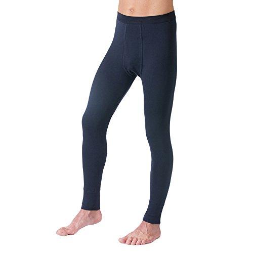 HERMKO 3540 Herren lange Unterhosen mit Eingriff und Weichbund aus 100% Baumwolle in Feinripp, verschiedene Farben, Farbe:marine, Größe:D 9 = EU 3XL (Unterwäsche Blaue)