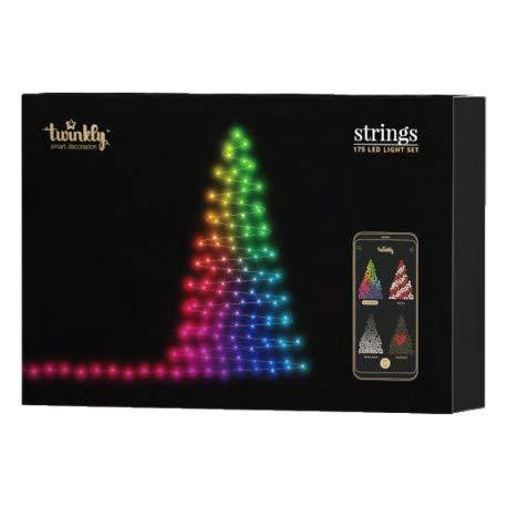 Twinkly - 175 leds, illuminazione per albero di natale controllabile via smartphone. scegli il tuo layout e crea la tua animazione!