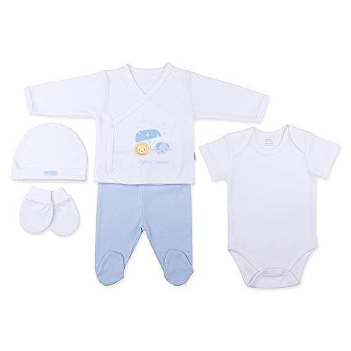 28d3550f7df0b Sevira Kids - Coffret naissance en 100% coton bio - vêtements Bébé 5 pièces  -