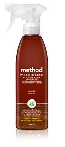 method - Bois - Spray Nettoyant - Boiseries - Parfum Amande - 354 ml - Lot de 2