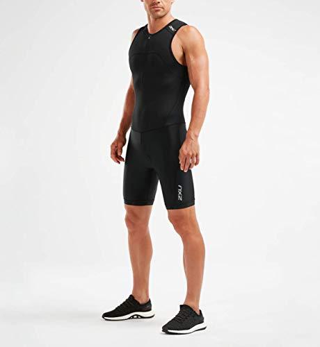 2XU UK Herren Active Triathlon Anzug Mt5540d Trisuit L schwarz/schwarz