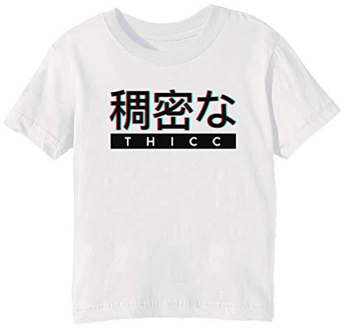 Erido Esthétique Japonais Thicc Logo Enfants Unisexe Garçon Filles T-Shirt  Cou D équipage e61a53a5f284