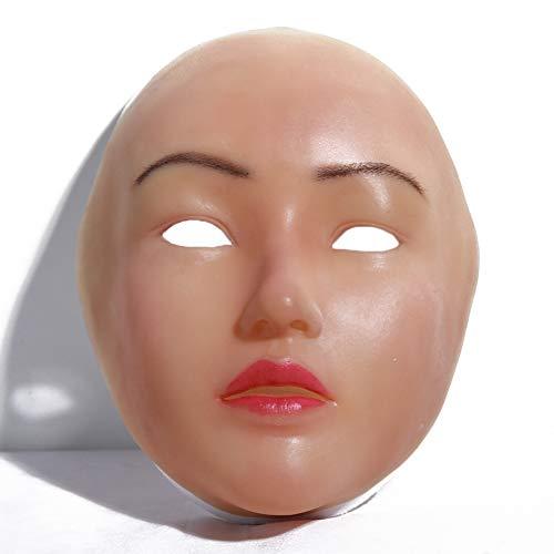 PINGJIA Weibliche Masken Realistische Sexy Silikon Maske Halloween Weihnachten Cosplay Crossdresser Transgender Shemale
