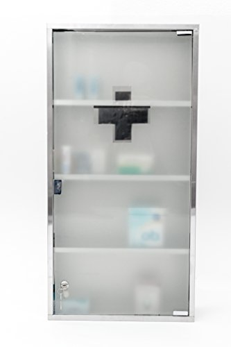#Intercube 80x40cm JUMBO DESIGN Medizinschrank Arzneischrank Edelstahl XXXXL#