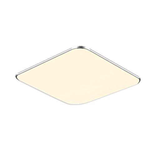 18W Warmweiß LED Modern Deckenlampe Ultraslim Deckenleuchte Schlafzimmer Küche Flur Wohnzimmer Lampe Wandleuchte Energie Sparen Licht Silber (18W Silber Warmweiß)
