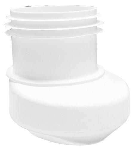 Preisvergleich Produktbild Anschlussstutzen für Stand WC | Weiß | Mit senkrechtem Abgang | Seitlicher Versatz | WC, Toilette