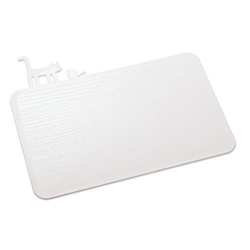 Koziol [ Pi:P Planche à découper, Plastique, Blanc Opaque, 25 x 29,8 x 0,5 cm
