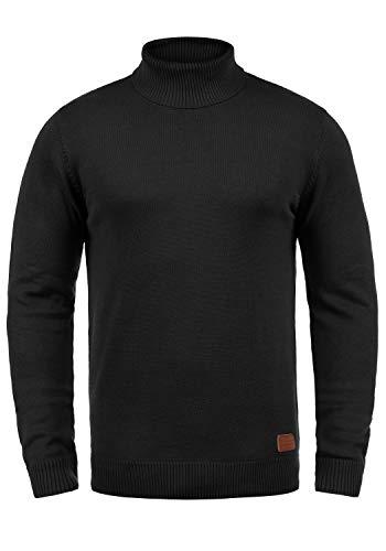 BLEND Latif Herren Rollkragenpullover Pullover Strickpullover Mit Rollkragen, Größe:XXL, Farbe:Black (70155)