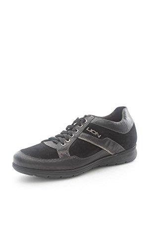 Lion 11221 Sneakers Uomo Camoscio Nero Nero 43