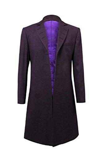 Cos-me Arzt Cosplay Kostüm Eleventh Dr. 11. Lila Fell Jacke, Jugend Herren Jungen Mädchen Damen, Violett, Male-XL
