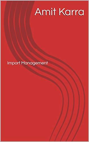 Import Management (2) (English Edition)