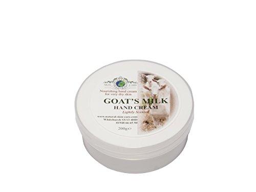 Ziegenmilch Handcreme 200g für Psoriasis Ekzem Trockene Haut Dermatitis Rosacea empfindliche Haut. Hergestellt in Großbritannien von Elegance Natural Skin Care